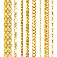 Conjunto de correntes douradas vetor