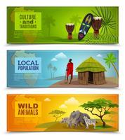 Conjunto de Banners de África