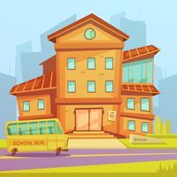 Fundo dos desenhos animados da escola