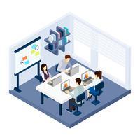 Ilustração de pessoas de Coworking vetor