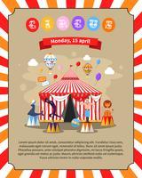 Ilustração de cartaz de circo vetor