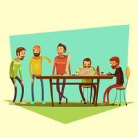 Coworking e ilustração de pessoas