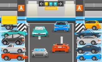 Ilustração de estacionamento subterrâneo
