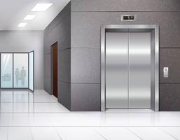 Hall com elevador vetor