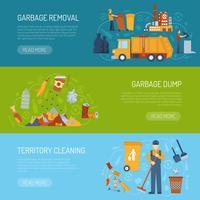 Banner de conceito de lixo