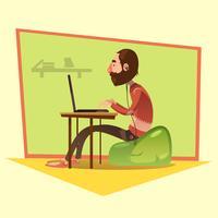 Ilustração de desenhos animados de programador vetor
