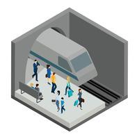 Ilustração de pessoas subterrâneas vetor