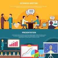Conjunto de Banners de eventos de negócios vetor