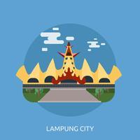 Ilustração conceitual de Lampung City Design
