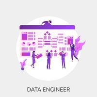 Ilustração conceitual de engenheiro de dados vetor