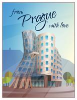 Cartaz de Praga da construção de casa da dança vetor