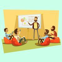 Ilustração de desenhos animados de reunião de negócios