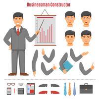 Conjunto de construtor de empresário