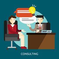 Consultoria conceitual ilustração design vetor