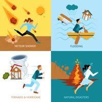 Conceito de Design de segurança de desastres naturais vetor