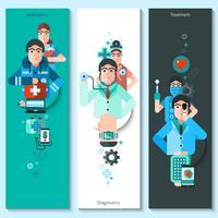 Banners conjunto de personagens do médico vetor
