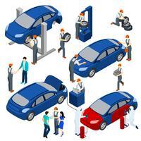 Conjunto de conceito de serviço de auto