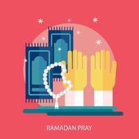 Ramadhan reza a ilustração conceitual Design vetor