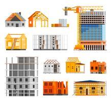 Conjunto de ícones de construção vetor