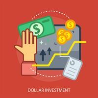 Ilustração conceitual de investimento de dólar vetor