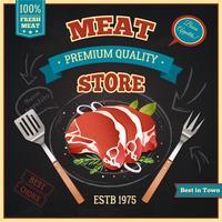 Cartaz da loja de carne vetor