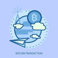 projeto de ilustração conceitual de transação de bitcoin vetor