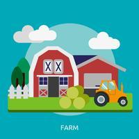 Ilustração conceitual de fazenda Design