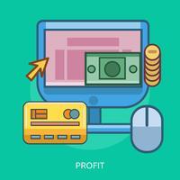Ilustração conceitual de lucro Design