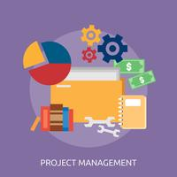 Projeto conceitual de gerenciamento de projetos vetor