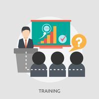 Ilustração conceitual de treinamento Design vetor
