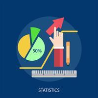 Ilustração conceitual de estatísticas Design vetor