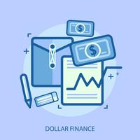 yen financiar conceitual ilustração design vetor