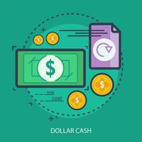 Ilustração conceptual do dinheiro do dólar vetor