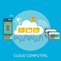 Ilustração conceitual de computação em nuvem vetor