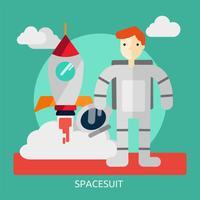 Ilustração conceitual de traje espacial