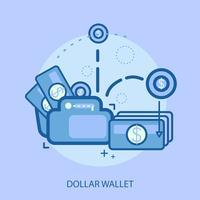 Ilustração conceitual de carteira de dólar Design vetor