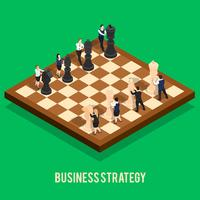 Conceito de xadrez de estratégia de negócios vetor