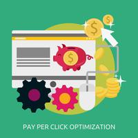 Pay per Click Opimization Ilustração conceitual Design vetor
