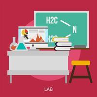 Ilustração conceitual de laboratório Design vetor