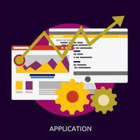 Application SEO Development Conceptual ilustração Design vetor