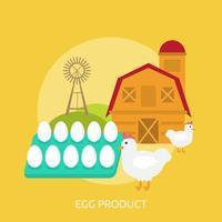 Ilustração conceitual de produto de ovo Design