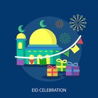 Ilustração conceitual de celebração Eid vetor
