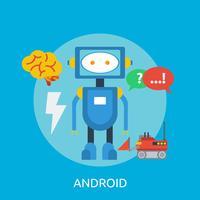 Ilustração conceitual de Android Design vetor