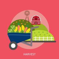 Ilustração conceitual de colheita Design