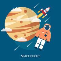 Ilustração conceitual de voo espacial vetor