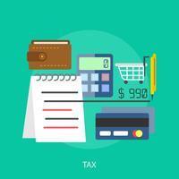 Ilustração conceitual de imposto Design vetor