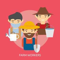Ilustração conceitual de trabalhadores de fazenda