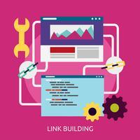 Link Building Conceptual ilustração design vetor