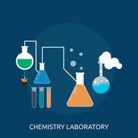 Laboratório de Química Conceptual illustration Design vetor