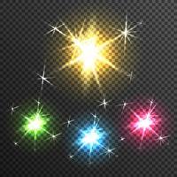 Imagem transparente de efeito de luz Starburst vetor
